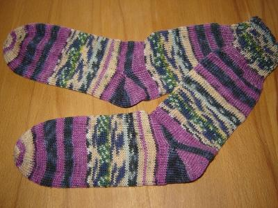 Gestrickte Socken Opal Hundertwasser -Imagine Tomorrow´s World